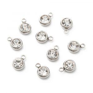 Diamante Charms - Silver - Riverside Beads