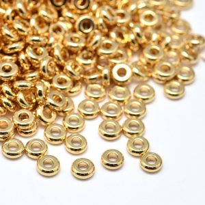 Rondelle Spacer Beads - Gold - Beads - Riverside Beads