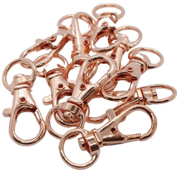 Medium Rosegold Bag Charms - Riverside Beads