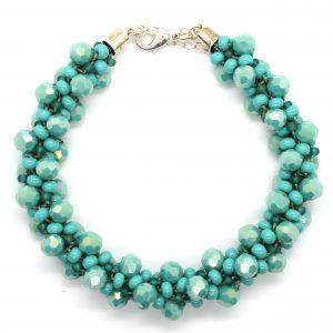Teal Luster Crystal Kumihimo Kit - Riverside Beads