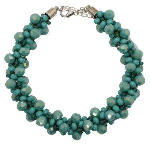 Teal Luster Crystal Kumihimo - Riverside Beads