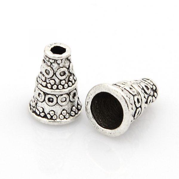 10mm Cone bead Caps silver - Findings - Bead Cap - Riverside Beads - Riverside beads