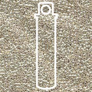 Size 11/0 Miyuki Delica Beads - Galvanised Silver - Riverside Beads