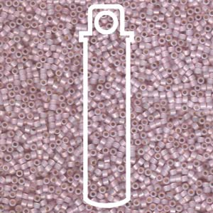 Size 11/0 Miyuki Delica Beads - S/L Pale Rose Opal - Riverside Beads