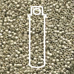 Size 11/0 Miyuki Delica Beads - Duracoat Galvanised Metallic Silver - Riverside Beads