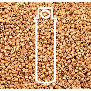 Size 11/0 Miyuki Delica Beads - Duracoat Galvanised Matte Yellow - Riverside Beads