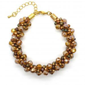 Golden Crystal Kumihimo Kit - Riverside Beads