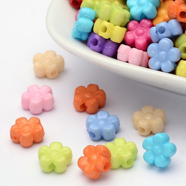 Mixed Acrylic Flowers - Riverside Beads