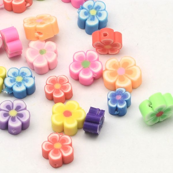 Mixed Clay Flowers - Riverside Beads