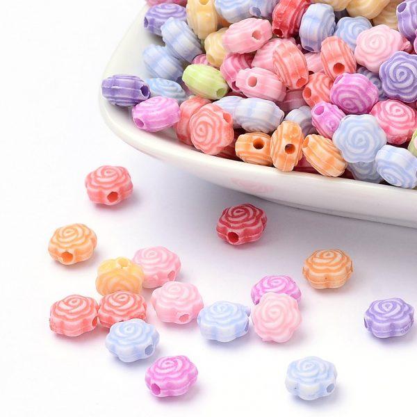 Spiral Acrylic Flowers - Riverside Beads