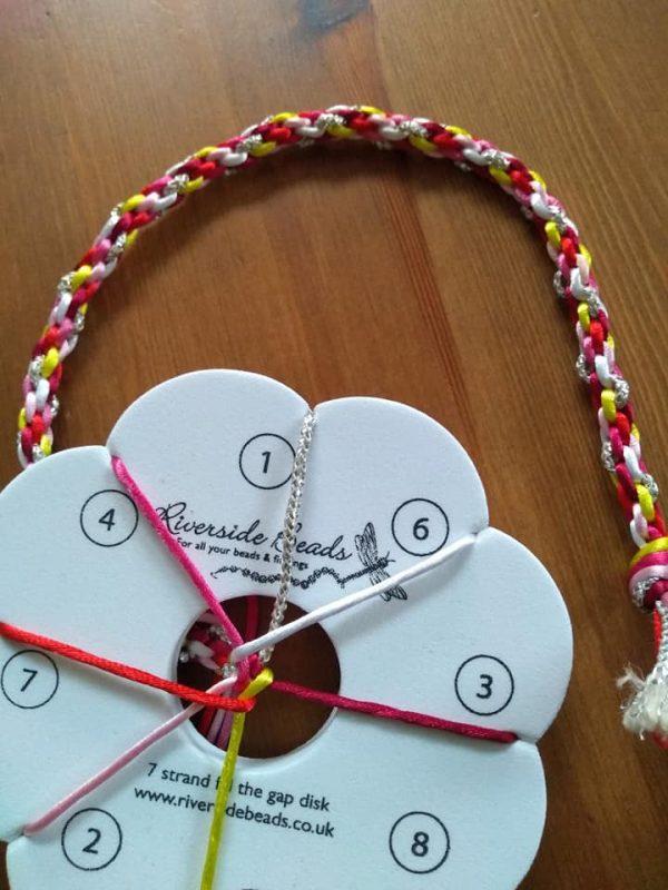 7 strand kumihimo kit - Riverside Beads