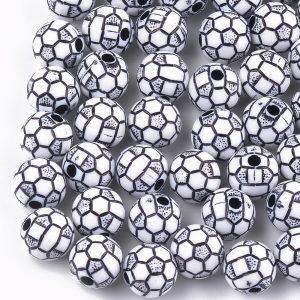 Acrylic Football Bead - Riverside Beads