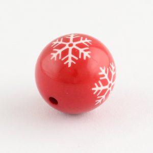 Acrylic Round Snowflake Bead - Riverside Beads