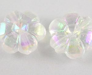 Acrylic Transparent Flower Bead - Riverside Beads