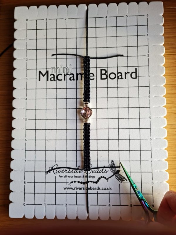 Diamante Macrame Bracelet - Riverside Beads