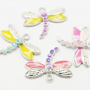 Enamel Dragonfly Charm - Multicoloured - Riverside Beads