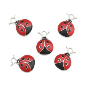 Enamel Ladybird Charms - Riverside Beads