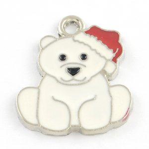 Enamel Polar Bear Charms - Riverside Beads