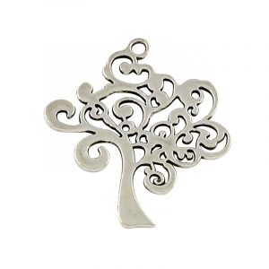 Large Tree Charms - Silver - Riverside Beads