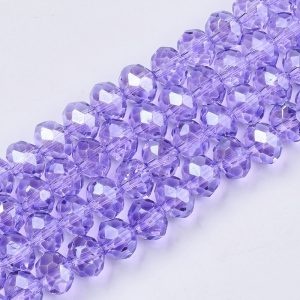 Lilac Crystal Rondelle Bead - Riverside Beads