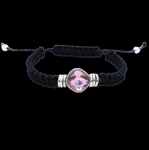 Pink Diamanti Macrame Bracelet - Riverside Beads