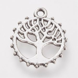 Silver Round Tree Charms - Riverside Beads