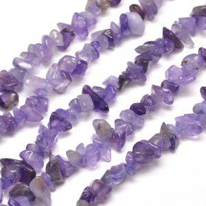 Semi Precious Chips - Amethyst - Riverside Beads