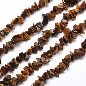 Semi Precious Chips - Tiger Eye - Riverside Beads