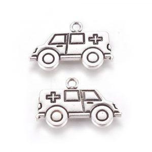 Silver Ambulance Charms - Riverside Beads