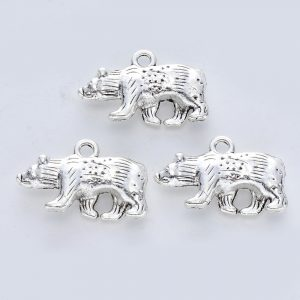 Silver Bear Charms - Riverside Beads