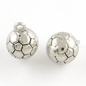 Silver Football Charms - Riverside Beads