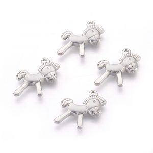 Silver Horse Charms - Riverside Beads