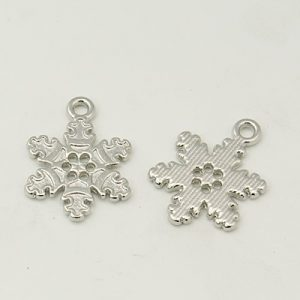 Silver Snowflake 1 Charms - Riverside Beads