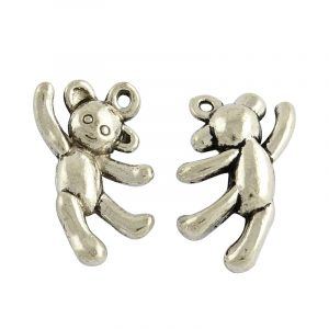 Silver Teddy Charms - Riverside Beads