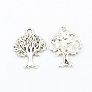 Silver Tree 2 Charms - Riverside Beads