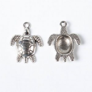 Silver Turtle Charms - Riverside Beads