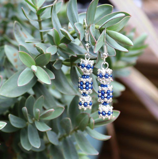 Blue Beaded Cracker Kit - Riverside Beads