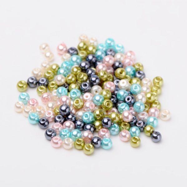 4mm Mixed Glass Pearls - Mermaid Mix - Riverside Beads