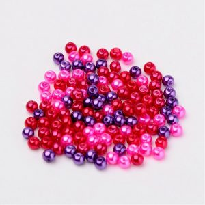 4mm Mixed Glass Pearls - Valentines Mix - Riverside Beads