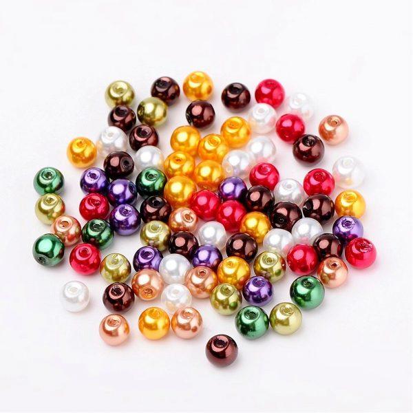 6mm Mixed Glass Pearls - Dark Rainbow - Riverside Beads