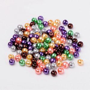 6mm Mixed Glass Pearls - Halloween Mix - Riverside Beads
