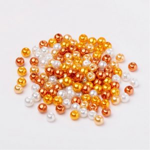 6mm Mixed Glass Pearls - Honey Mix - Riverside Beads
