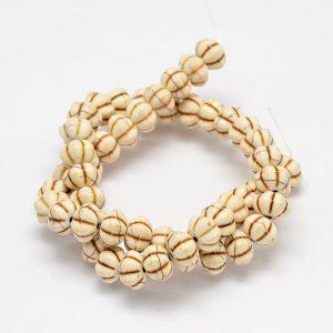 Imitation Turquoise Bead - Cream - Beads - Riverside Beads