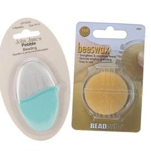 Beading Needle and Bees Wax - Riverside Beads